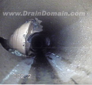 crude drainage connection