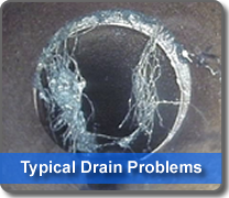 typical problems found on drainage systems