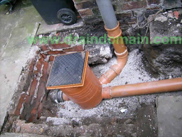 Underground Plastic Drainage Pipe Work